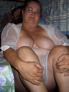 Mature 50 year old bbw directed to wash large natural tits