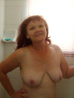 Sexy mom 56 redhead mature with a young man
