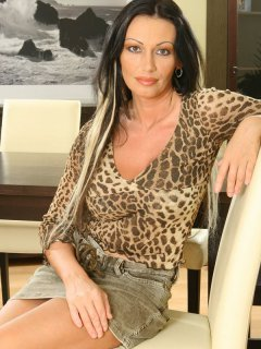 Hot mature cougar smoking joi