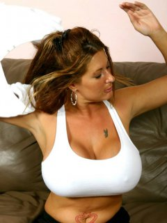 Hot mature woman being spy on