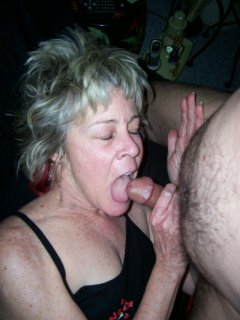 Mature white granny satisfying her black partner