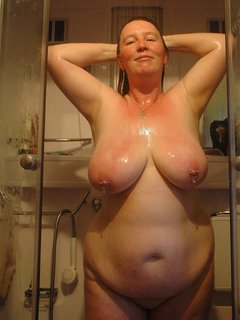 Hot mature with big saggy tits