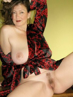 Mature milf in stockings with four cocks
