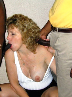 Mature wife sucking my cock