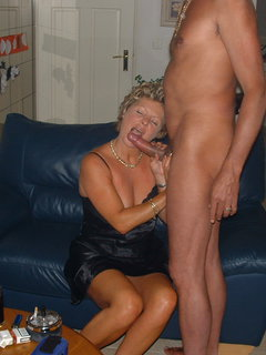 Mature blonde milf sucks then fucked