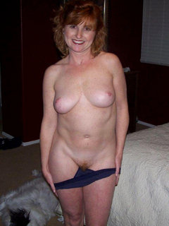 Chubby mature with dildo