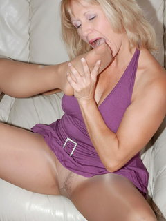 Analed mature blonde babe