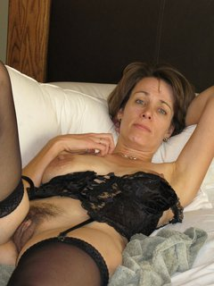 Mature white mom on young black sister
