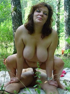 Mature showing off her body