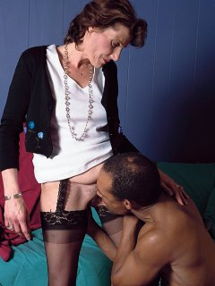 Big blond mature with saggy tits gets cock