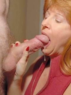 Tits and furry pussy of mature wife
