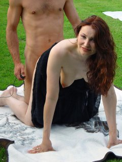 Cute mature lady and young guy