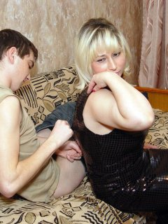 Mature woman dped by two guys